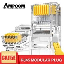 AMPCOM CAT5e UTP 50U RJ45 модульный Штекерный разъем 8P8C обжимный концевой Ethernet кабель коннектор Ethernet