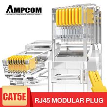 AMPCOM CAT5e UTP 50U RJ45 Modular Plug Connector 8P8C Crimp End Ethernet Cable Ethernet Connector