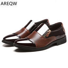 New Spring Fashion Oxford Business Men's Shoes Leather High Quality Soft Casual Breathable Men's Flat Shoes Dance Shoes(China)