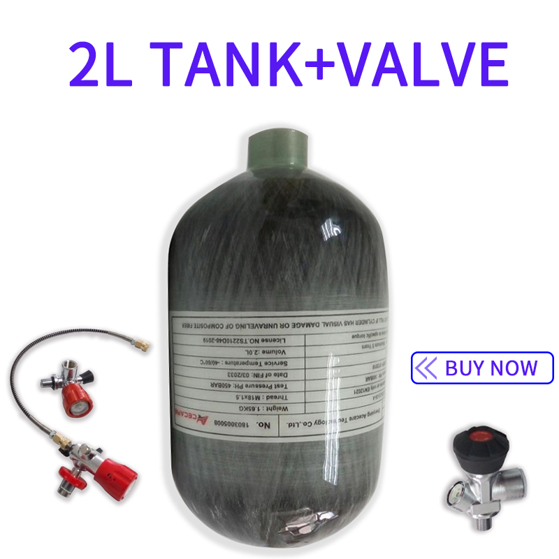 Acecare 2L Mini Scuba Tank Pcp Air Rifle/Airforce Condor 4500Psi Paintball Cylinder&Valve Filling Station Pcp Underwater Airgun