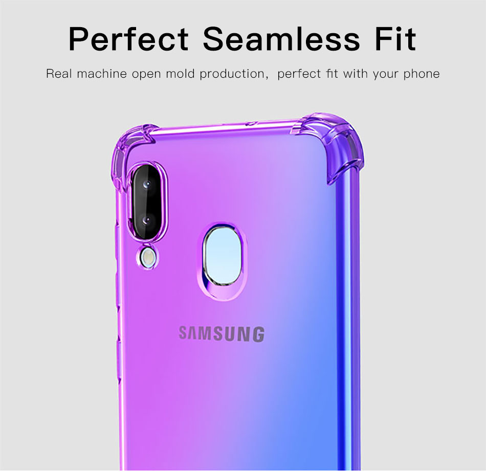!ACCEZZ Colorful For Samsung A40 A50 Soft Phone Case Protection Back Cover For Galaxy A50 A40 TPU Thin Phone Shell Fitted Case (1)