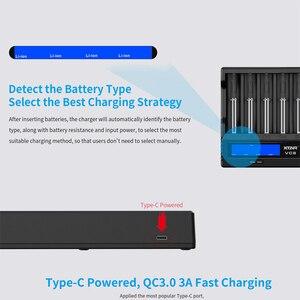 Image 4 - Xtar 18650 Batterij Oplader VC8 = VC4 + VC4S QC3.0 Fast Charger Type C Opladen Lcd Display Usb Oplader Voor 21700 20700 18650 Batterij