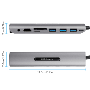 Image 3 - Hot 5 In 1 USB C HUB USB C To HDMI USB 3.0 SD/TF Card Reader Adapter for Mac Book Pro Samsung Galaxy Thunderbolt 3 USB C Charger