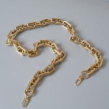 Nowa modna torba damska akcesoria odpinane części zamienne łańcuszek czyste złoto akrylowy luksusowy pasek kobiety łańcuch na ramię tanie tanio DIRMMIS acrylic 100g Łańcuch Gold 45CM 85CM 120CM
