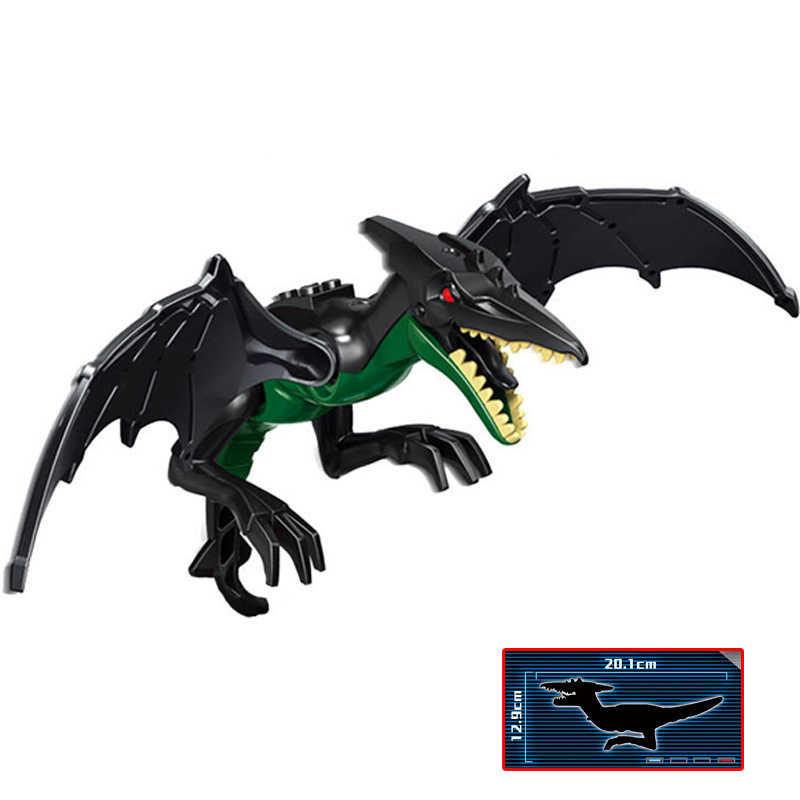 1 sztuk dinozaurów jurajski duży Raptors pterozaury mieszane raptors tyranii zabawka smok bloki kompatybilny Legoings jurajski świat