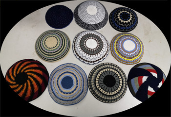 Pequeno tamanho de alta qualidade feito à mão de malha kippah yarmulke