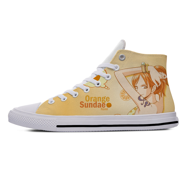 NAMI CUTE ONE PIECE THEMED HIGH TOP SHOES (5 VARIAN)