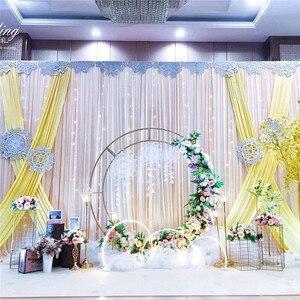 Image 5 - 1.2m/1.5m/2m/2.4m wedding prop iron ring shelf artificial flower wall stand door wedding background decor iron arch  iron stand