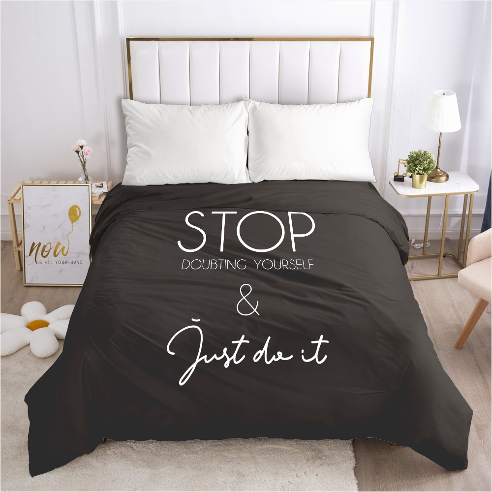 1pcs 3d Duvet Cover With Zipper Comforter Quilt Blanket Cover 155x220 200x220 3d Nordic Bedding Black Customize Any Size Design Bettbezug Aliexpress
