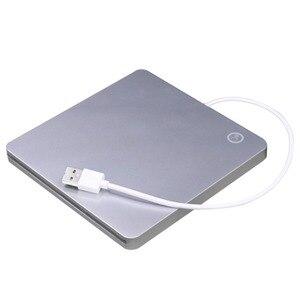 USB External Slot DVD CD RW Drive Burner Super Slim Drive Mobile External DVD Drive for Apple for Mac book Pro Air