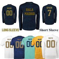 2019/2020 Ramos hala madrid Tee Camiseta Long sleeve Men's Clothing T Shirt White Home Blue Tops Short sleeve football Men Tee