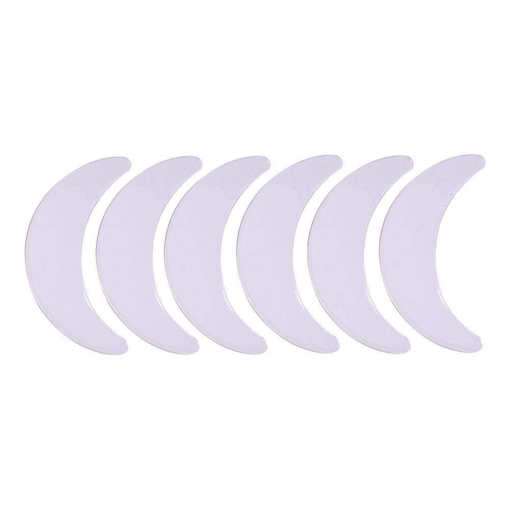 Crescent Shape Six Piece Silicone Eye Patch Silicone Anti Wrinkle Pad Eye Forehead Face Patch Combination