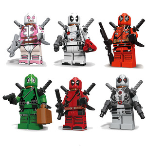 Decool 0256-0261 6pcs/lot blocks Marvel Movie Super Heroes Deadpool Building Blocks Bricks Educational Kids Toys Juguetes(China)
