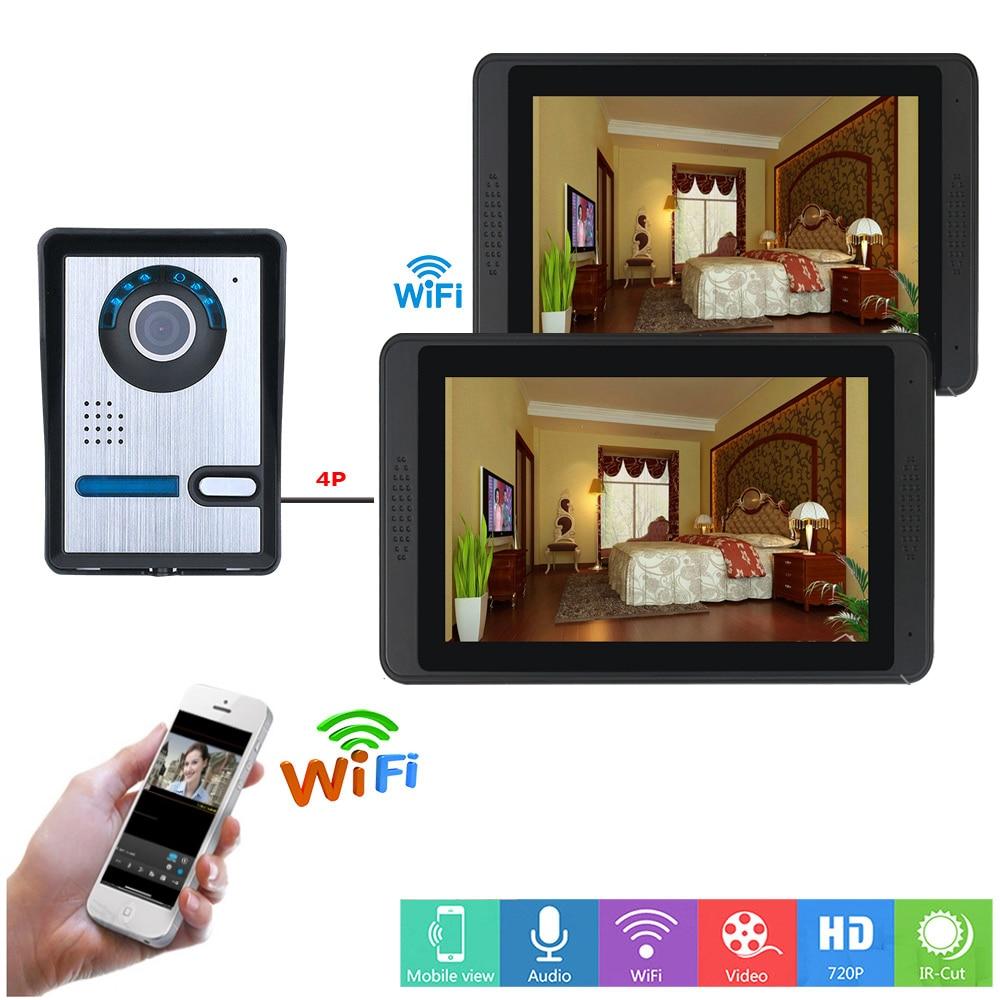SmartYIBA APP Remote Control Video Intercom 7 Inch LCD Wifi Wireless Video Door Phone Doorbell Visual Speakerphone Intercom KIT