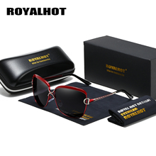 RoyalHot Women Polarized Oversized Vintage Sunglasses Aloly Frame Driving Sun Glasses Shades Oculos masculino Male 60012