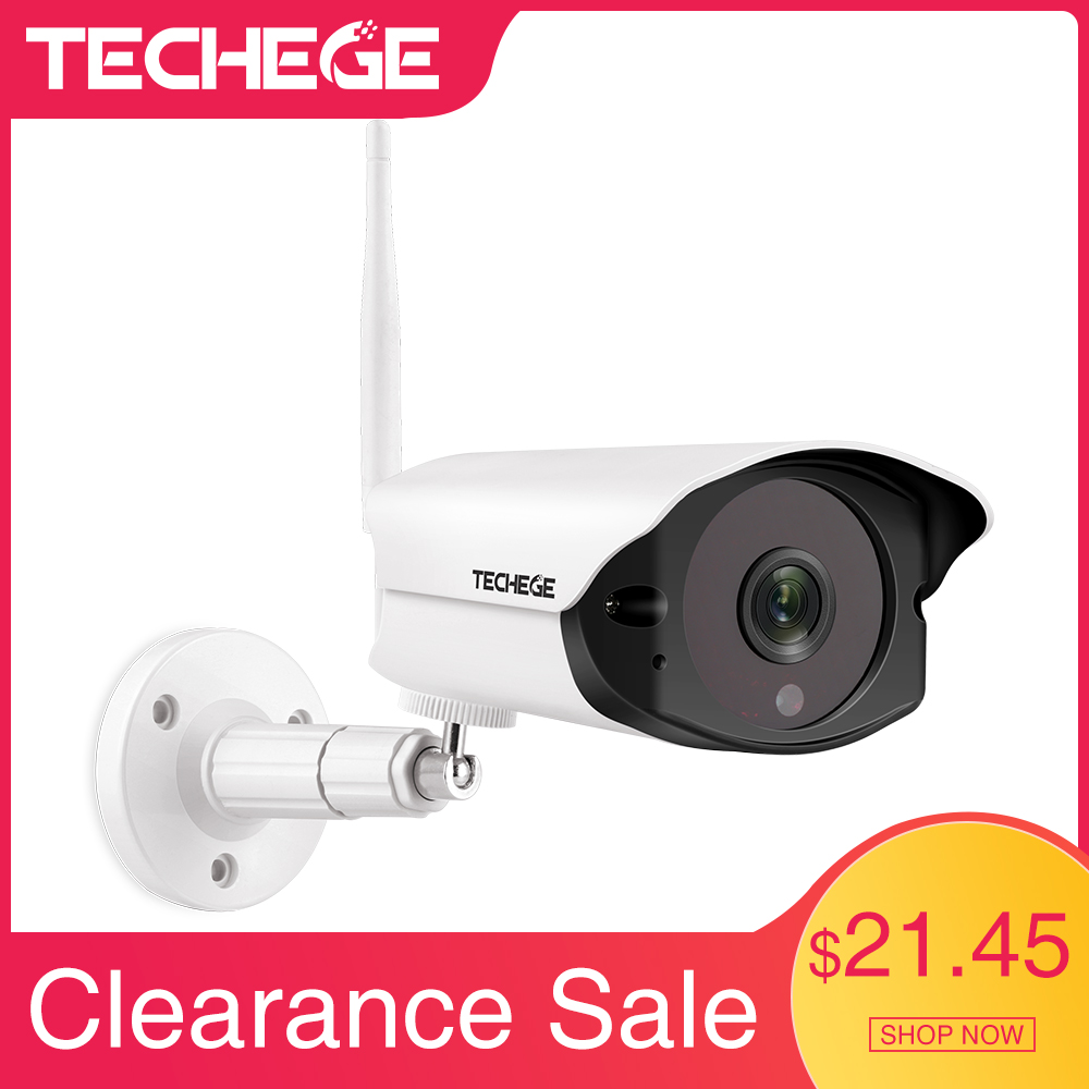 Techege 1080P HD Wifi IP camera Outdoor indoor 2MP Wireless Wired Security Camera Motion Detection Intercom TF card slot|Surveillance Cameras| |  - title=