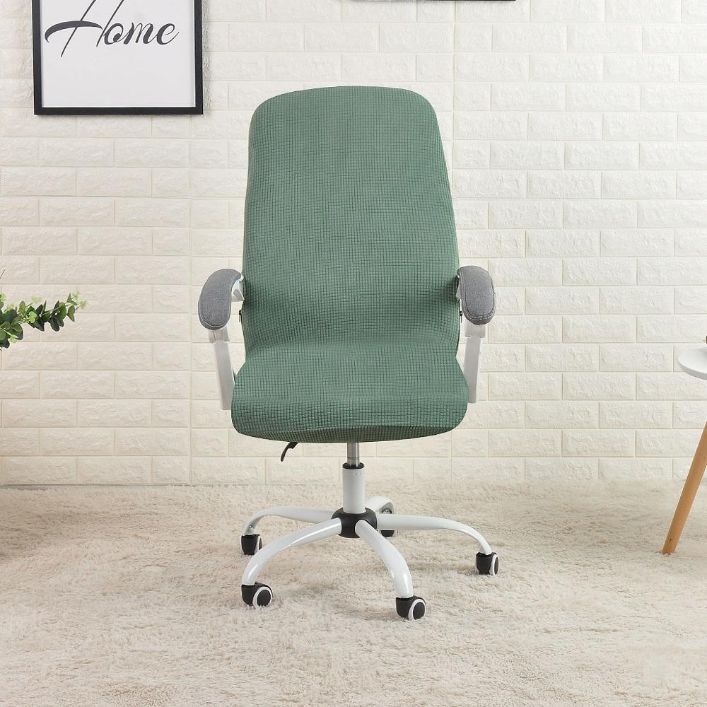 Office Chair Cover Water Resistant Jacquard Computer Game Chair Slipcover Elastic Cover For Armchair 1Pc