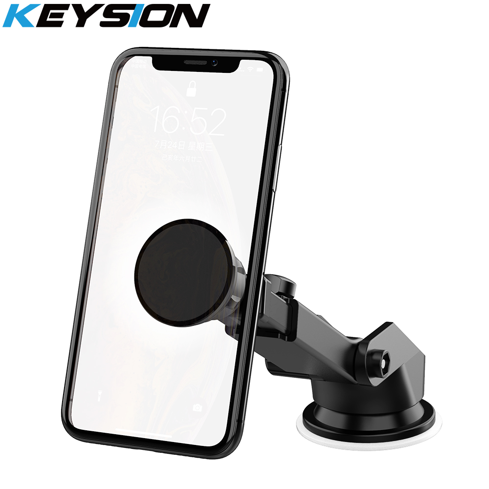 KEYSION Magnetic Car Phone Holder Air Vent Outlet Rotatable Mount Magnet Phone Mobile Stand Universal For iphone Samsung Xiaomi 2