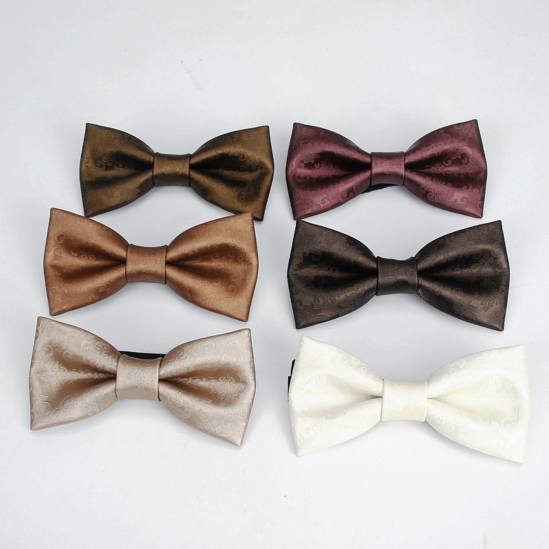 2020 Brand New Fashion Pu Leather Geometric Wine Red BowTie Female Necktie Adult Luxury Cravate Homme Wedding Party Tie For Men