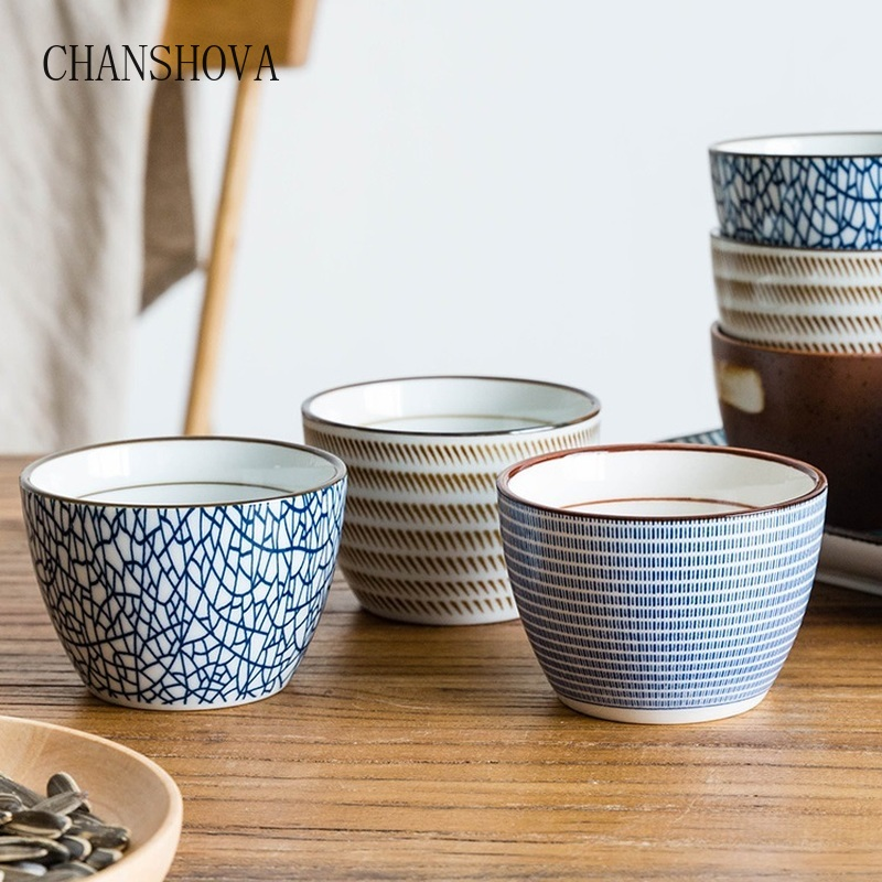 CHANSHOVA 150ml Chinese Retro Style Handmade Glaze High Temperature Firing Ceramic Tea Cup Coffee Porcelain Tea Cup  H313