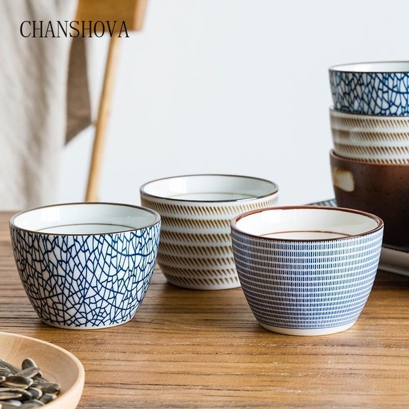 CHANSHOVA 150ml Chinese Retro Style Handmade Glaze High Temperature Firing Ceramic Tea Cup Coffee Porcelain Tea Cup  H313