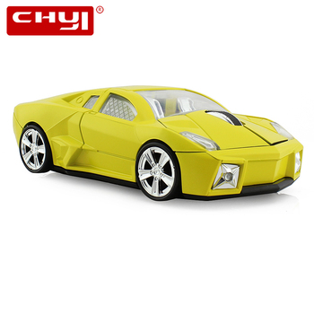 CHYI Sport Car Shaped Wireless Mouse USB Optical Computer Mause 1600DPI Mini 3D Gaming Mice With Mouse Pad For PC Laptop Gift