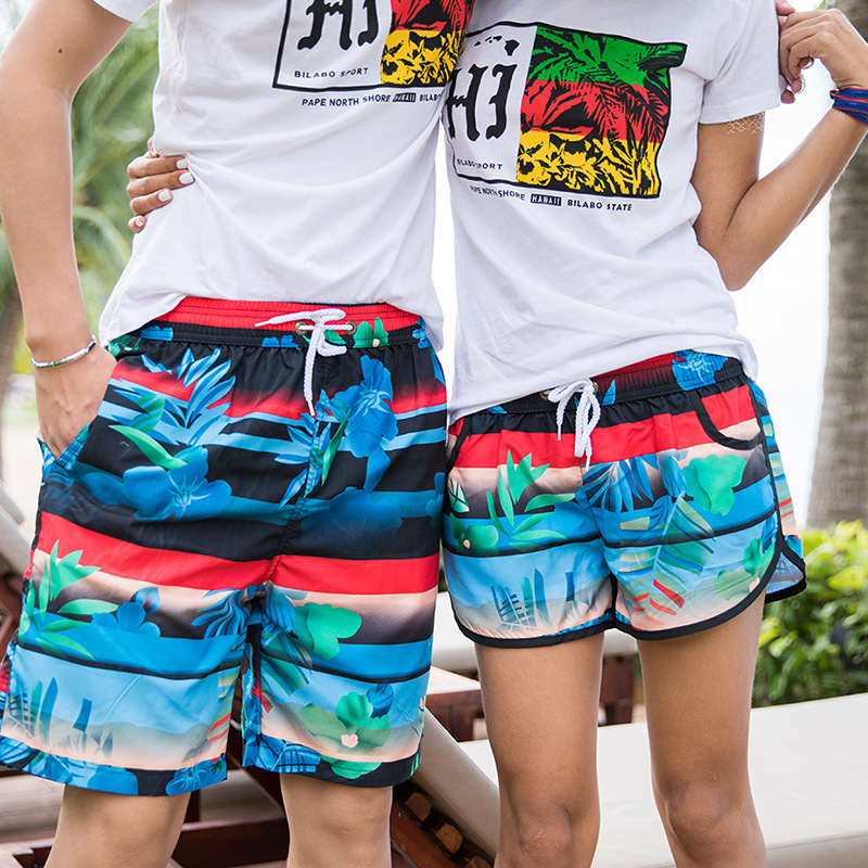 2019 New Style Beach Shorts Europe And America Quick-Dry Couples Beach Shorts Summer Short Shorts Loose-Fit Large Trunks