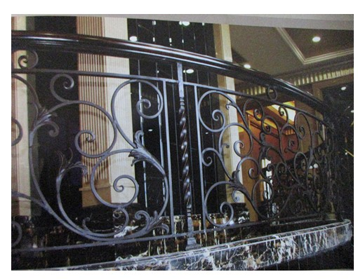 China Iron Company Fancy Steel Metal Aluminium Wrought Iron Balcony,iron Railing,iron Balustrades Design Hc-11