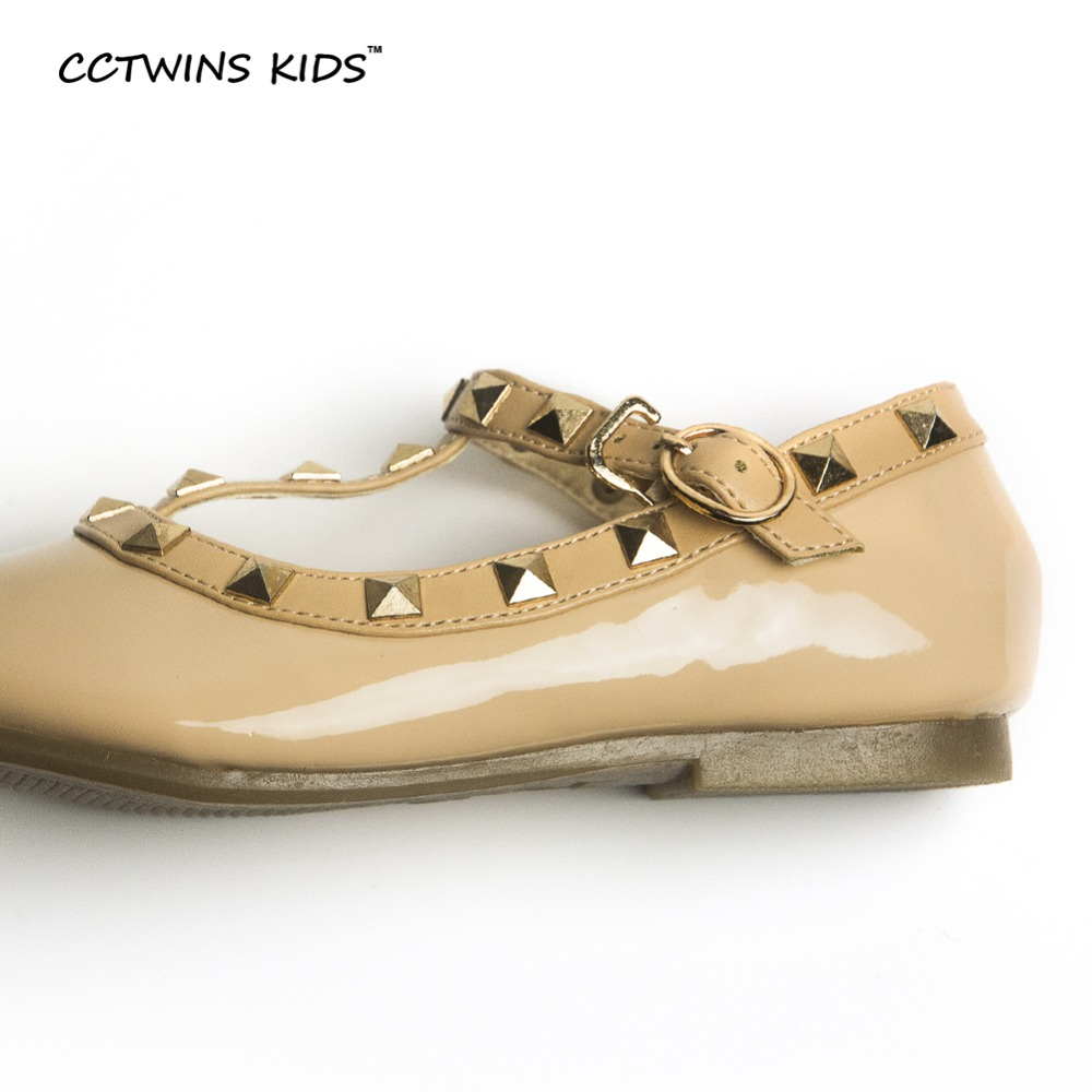 CCTWINS KIDS spring girls brand for baby stud shoes children nude sandal toddler summer shoe black white flats party shoe G358 3