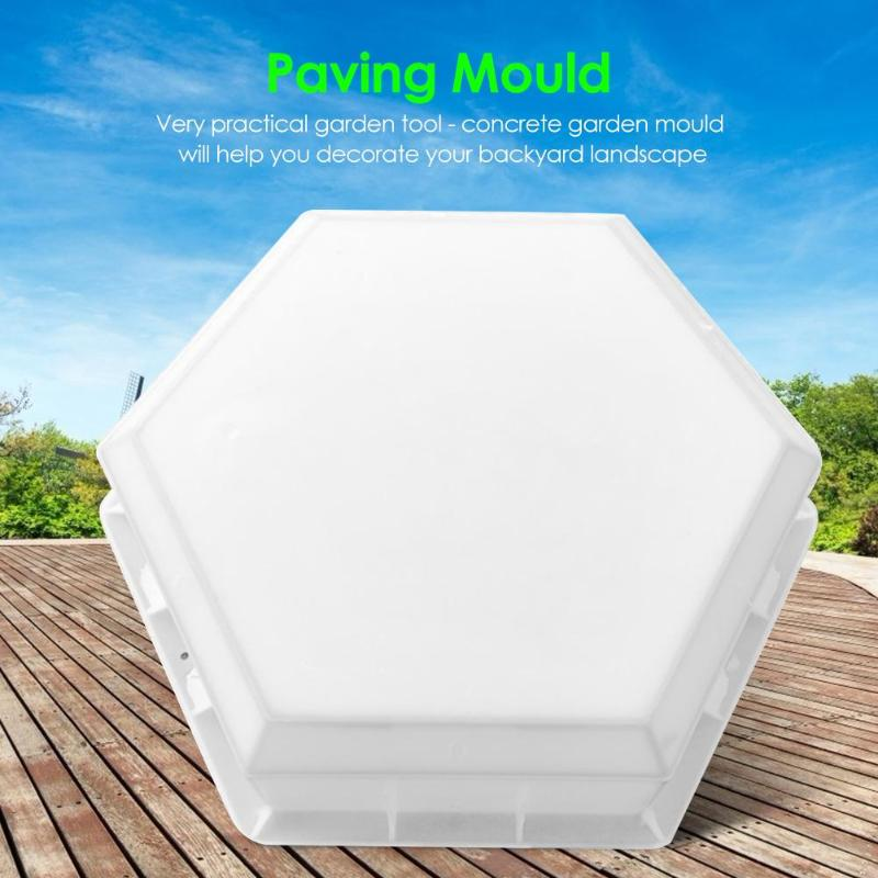 Garden DIY Path Paving Moulds Creative and Unique Landscape Paving Projects Hexagon-shaped Reuse Concrete Stepping Stone Mold