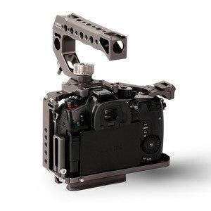 Image 4 - Tilta TA T37 A G kamera kafesi için Panasonic Lumix GH5 GH5S DSLR rig kiti tam kafes üst kolu