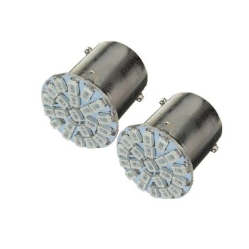 Exquisitely Designed 2 x BA15S P21W 1156 22 LED 1206 SMD Car Auto Tail Side Indicator Lights Parking Lamp Bulb image