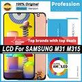 100% Оригинальный 6,4 ''AMOLED дисплей для Samsung Galaxy M31 M315 M315F Полный ЖК сенсорный экран Запасные части + Сервисный пакет