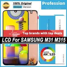 100% original 6.4 amamamoled display para samsung galaxy m31 m315 m315f peças de reparo da tela toque lcd completo + pacote serviço