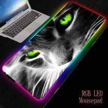 Xgz животный Кот игровой rgb большой коврик для мыши геймер