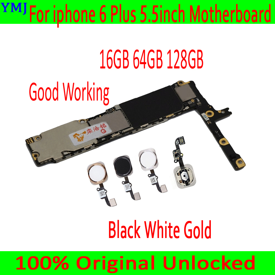 For iphone 6 Plus Motherboard Original unlocked Mainboard 16G 64G 128G for iphone 6 Plus Logic board with/without Touch ID Plate-in Mobile Phone Antenna from Cellphones & Telecommunications