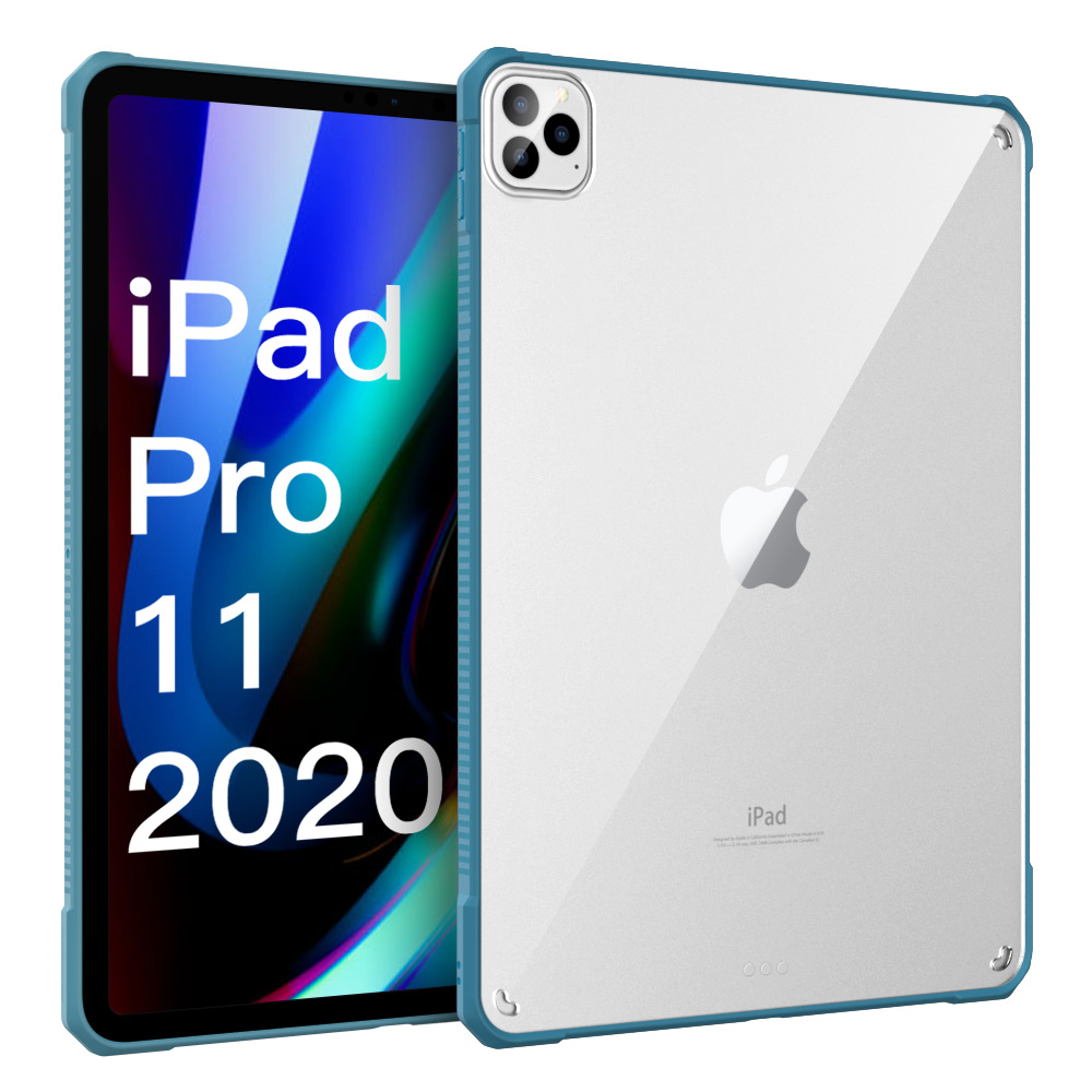 Blue Blue MoKo Case For iPad Pro 11 2018 2020 Support Pencil 2 Charging Function Flexible TPU Air