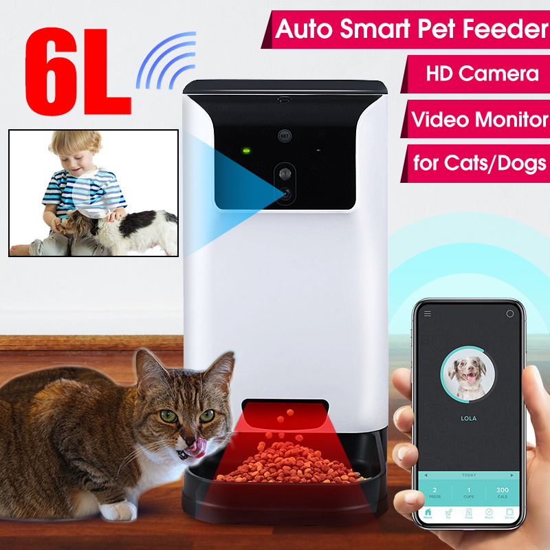 6L Smart Dog Automatic Feeder with Camera Video Record Pet Automatic Feeder for Cats Dogs Food Dispenser Bowl Pet Supplies image