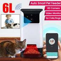 6L Smart Dog Automatic Feeder with Camera Video Record Pet Automatic Feeder for Cats Dogs Food Dispenser Bowl Pet Supplies