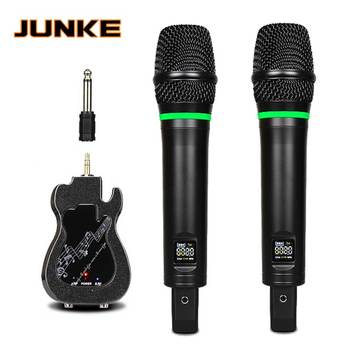 UHF Wireless Microphone With Karaoke Bluetooth Playback Music Karaoke Mic Handheld Rechargeable Lithium Battery Receiver KTV