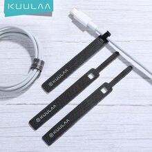 KUULAA Kabel Organizer für Telefon USB Kabel Draht Wickler Kopfhörer Halter Maus Kabel Protector Power Draht kabel Management HDMI Aux