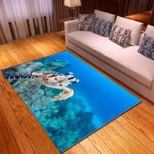 Ковер Океанский мир черепаха противоскользящий ковер для спальни