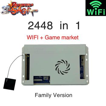 цена на pandora games 3D 2448 in 1 Box Family-Version Arcade Cabinet HD video Jamma HDMI VGA Console Gamepad Motherboard FBA MAME PS
