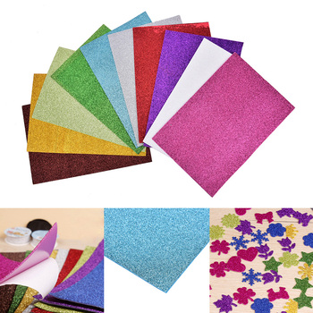 10pcs Flash Thick Sponge Paper With Rubber Powder EVA Foam Paper DIY Paper Craft Scrapbooking Paper Origami Colored Decor 1