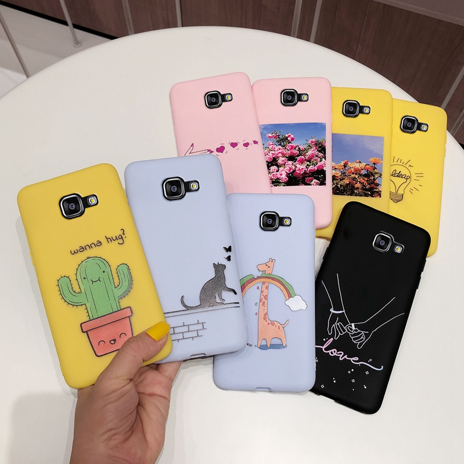 For Samsung Galaxy A5 2016 A510 A510F Cover Case Silicone Soft Painting TPU Candy Phone Case For Samsung A5 A 5 2016 A5100 Coque