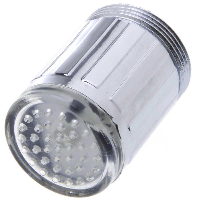 Led luz torneira de água da torneira cabeças sensor temperatura rgb brilho led fluxo chuveiro do banheiro torneira do chuveiro azul acessórios da cozinha