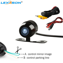Waterproof CCD Car Vehicle Rearview Front Side View Backup Reversing Camera Dual control Mirror Image Convert Line Parking line