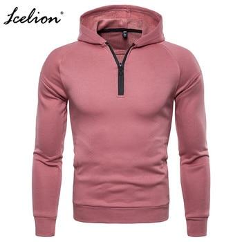 IceLion 2019 Solid Color Hoodies Men Spring Autumn Zipper Cardigan Coat  Men's Cotton Bomber Sweatshirt Fashion Casual Windbreak