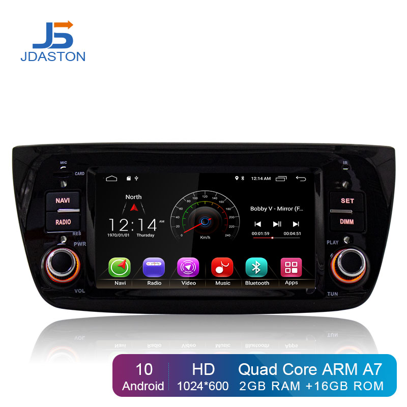 JDASTON Android 10.0 1 Din Car Radio For FIAT DOBLO Opel Combo Tour 2010-2014 Car Multimedia Player GPS Navigation Stereo Wifi image