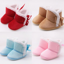 Infant Baby Boots Winter Baby Boys Girls Shoes Anti-Slip Toddler Snow Warm Prewalker Baby First Walker Shoes bebek ayakkabi @40 cheap ISHOWTIENDA Rubber Slip-On Fits true to size take your normal size Mid-Calf Unisex Snow Boots Cotton Fabric Flat with Round Toe